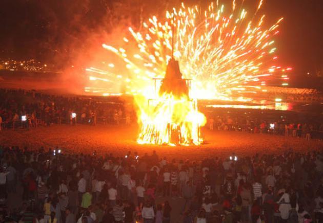 The bonfire. Night of San Juan